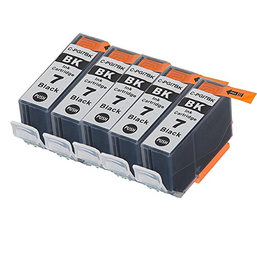 LiC-Store 5x Big Black Compatible Canon PGI-7 , PGI-9 for use with Canon IX7000 RFB, PIXMA MX7600, PIXMA iX7000. Ink Cartridges for inkjet printers. PGI-7-BK , PGI-9-C , PGI-9-M , (Pixma Ix7000 Inkjet Printer)