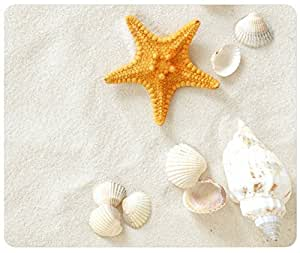 Customized Rectangle Mousepad, Mouse Pad Seashells, Starfish On The Sand by ruishername