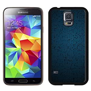 Blue Fine Grid Pattern Background Hard Plastic Samsung Galaxy S5 I9600 Protective Phone Case