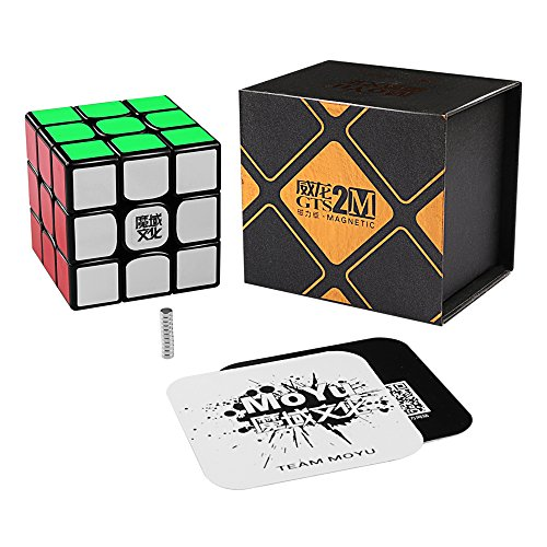 Coogam Moyu Weilong GTS2 Magnetic Speed Cube GTS V2 M 3x3 Enhanced Version Puzzle Cube Black