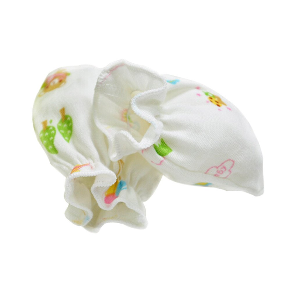 2-Packs Cute Soft Newborn/ Infant NO-Scratching Bamboo Mittens For 0-6M One Size Panda Superstore PS-BAB3512030011-CAROL00049