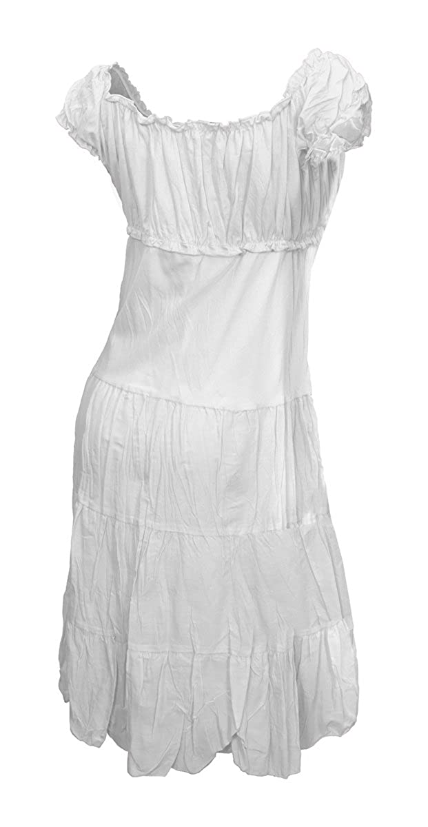 ba614521845d eVogues Plus Size White Cotton Empire Waist Sundress - 5X  Amazon.co.uk   Clothing