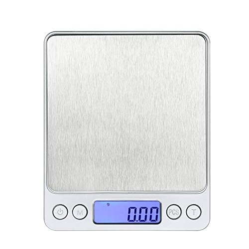 Portable 500g x 0.01g 0.001oz Gram Digital LCD Scale Jewelry Coin Gold Kitchen Balance Weighing Scales