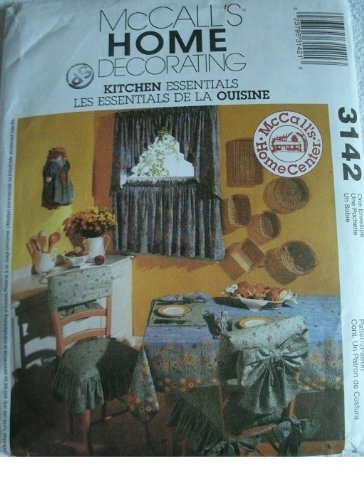 MCCALLS HOME DECORATING KITCHEN ESSENTIALS PATTERN 3142 EVERYTHING FROM PLACEMATS TO SILVERWARE CADDY
