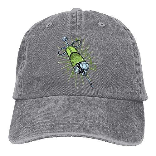 JHDHVRFRr Hat Needle Tube Denim Skull Cap Cowboy Cowgirl Sport Hats for Men Women