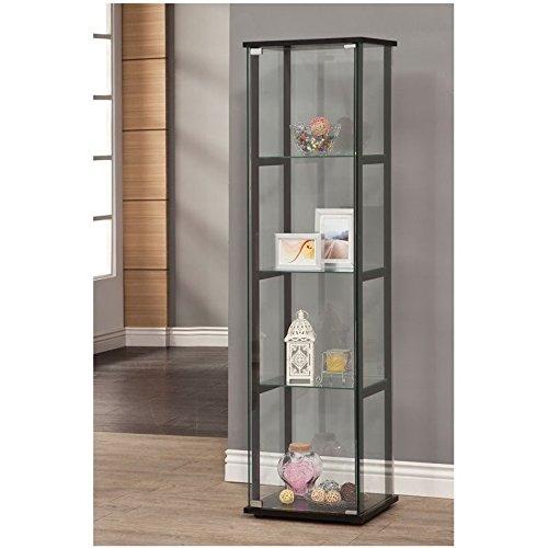 Coaster Home Furnishings 950171 Curio Cabinet, Black