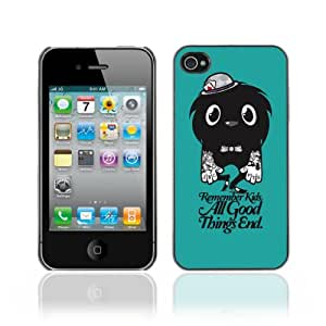 Designer Depo Hard Protection Case for Apple iPhone 4 4S / Cute Tattoo Monster