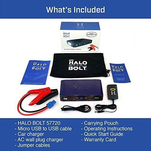 Halo Bolt Portable Charger Bank Car - Black Graphite