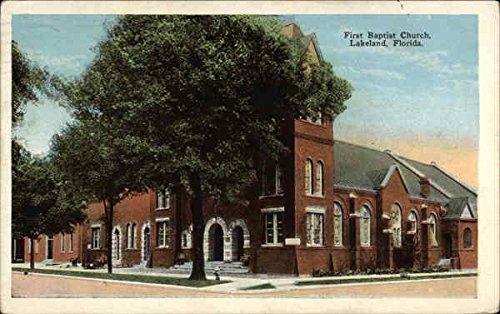 First Baptist Church Lakeland, Florida Original Vintage - Stores Lakelands