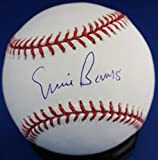 Autographed Ernie Banks Rawlings Official Major League Baseball - With COA