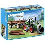 PLAYMOBIL 5048 Traktor mit Langholztransport