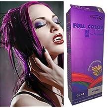 Starlist Permanent Hair Colour Cream Dye Goth Cosplay Emo Punk Purple with Serum by Starlist