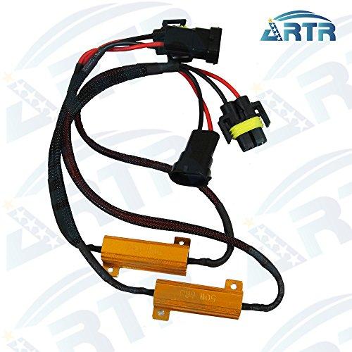 2Pcs ARTR H11 LED Resistor 50W 6ohm Load Resistors - Canbus Fix LED Bulb Error Code