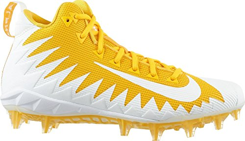 (NIKE Alpha Menace Pro 871451-711 Mid Football Cleats-Team Yellow/White-Varsity Maize-Size 10)