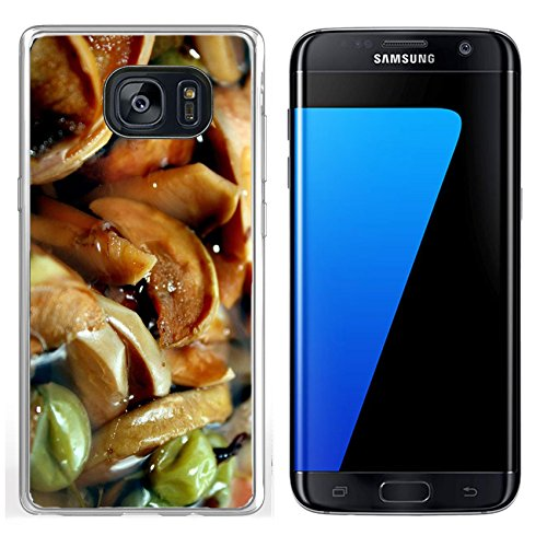 Luxlady Samsung Galaxy S7 Edge Clear case Soft TPU Rubber Silicone IMAGE ID 8094271 Background with compote from dried apples and a gooseberry A theme of preparation of meal (Compote Edge)