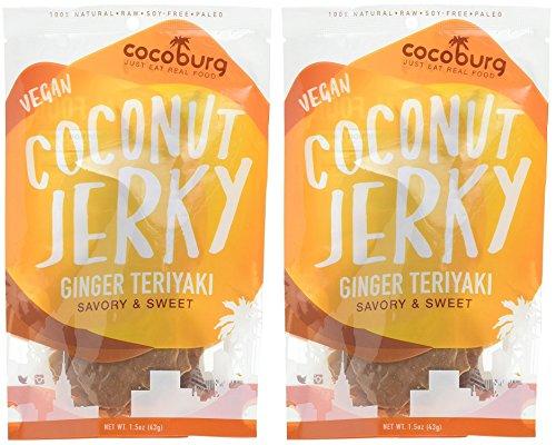 Vegan Snacks Coconut Jerky - Ginger Teriyaki 1.5 oz (Pack of 2)