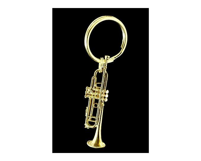 Amazon.com: Trompeta Key cadena – Bañados en oro de 24 K ...