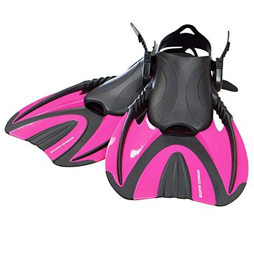 Snorkel Master Swimming Snorkeling Fins, Hot Pink, - Swim Fins Pink