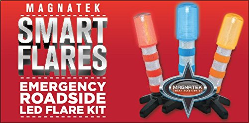 Emergency Roadside Car Kit Flares 2 LED Flares In Roadside Light Kit Roadside AAA Emergency Kit Uses Battery Power Safe LED Road Flares Special Roadside Assistance Light For Your Safety