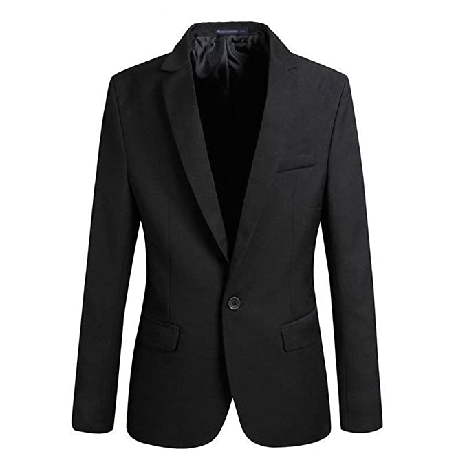 VOBAGA Men's Slim Fit Stylish Casual One Button Suit Coat Jacket ...