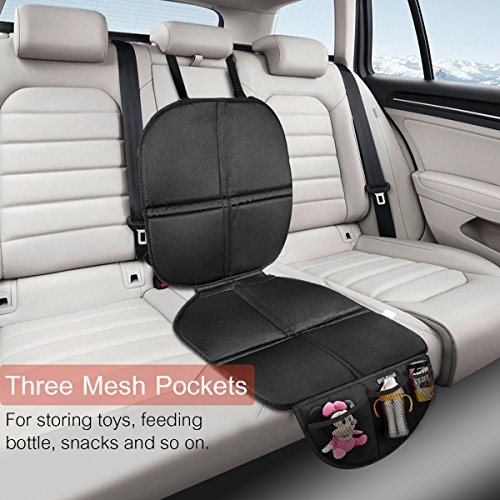 victsing baby car seat protector with storage pockets import it all. Black Bedroom Furniture Sets. Home Design Ideas