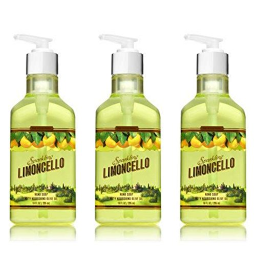 Bath and Body Works Sparkling Limoncello Hand Soap with Nourishing Olive Oil  (10 oz. each 3 Pack)