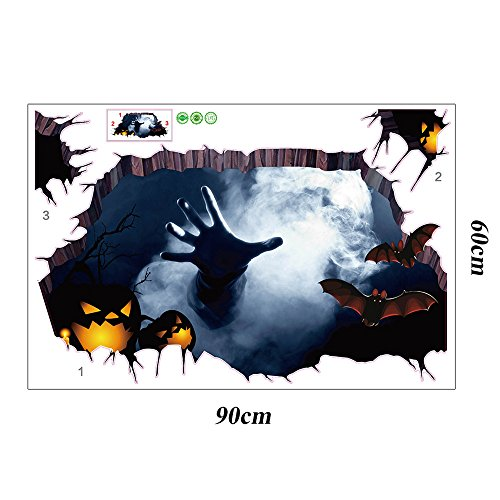 FORUU 2019 Wall Stickers Decals Murals 3D Happy Halloween Household Room Floor Wall Sticker Mural Decor Decal RemovableUnder 5 Dollars]()