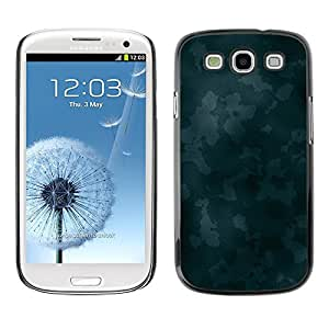 LECELL -- Funda protectora / Cubierta / Piel For Samsung Galaxy S3 I9300 -- Texture Blue Camoo --