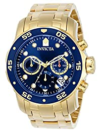 Invicta Men's 0073 Pro Diver Gold/Blue 18K Gold-Plated Stainless Steel Watch