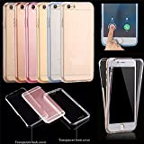 For iPhone 6s Case,Ultra Slim Clear TPU Silicone 2in1 Shockproof Cover,360 Full Protective[Front and Back]Rubber Gel Transparent Touch Case Cover for iPhone 6/6s 4.7 inch