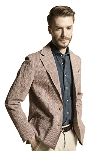 - Megan apparel La Catenella Men's Slim Fit Suits Stylish Casual Seersucker Blazer Jacket