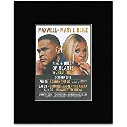 Maxwell & Mary J. Blige - King + Queen Of Hearts World Tour October 2016 Mini Poster - 40.5x30.5cm