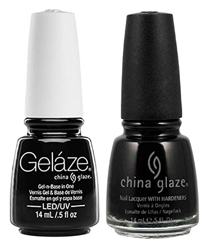 - China Glaze Gelaze Tips and Toes Nail Polish, Liquid Leather, 2 Count