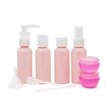 63484d9d80ae Gospire Pink Travel Bottles Spray Bottles Pump Bottles for Makeup Cosmetic  Toiletries Liquid Containers...