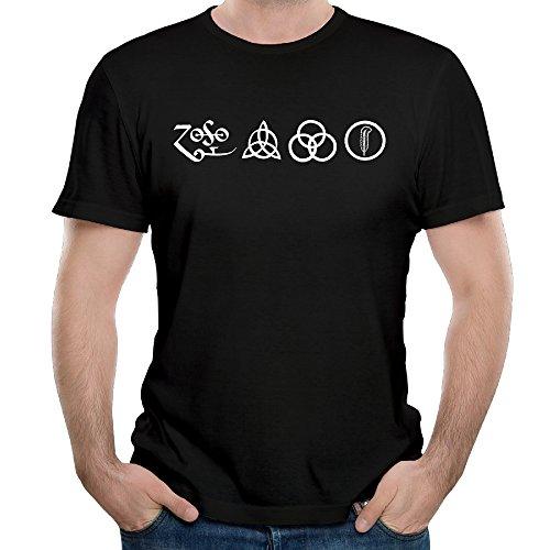 [Men LED ZEPPELIN Cool Concert Symbol Design T-shirt Short Sleeve Tee] (Led Zeppelin Zoso T-shirt)