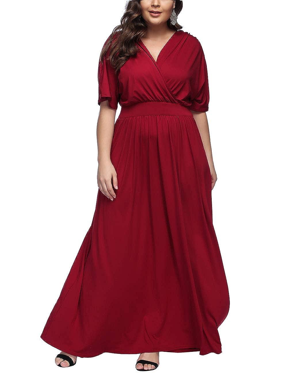 TALLA 3XL/ES 54-56. FeelinGirl 1950 Año Retro A-Línea Falda de Fiesta para Mujer Rojo Tinto 3XL/ES 54-56