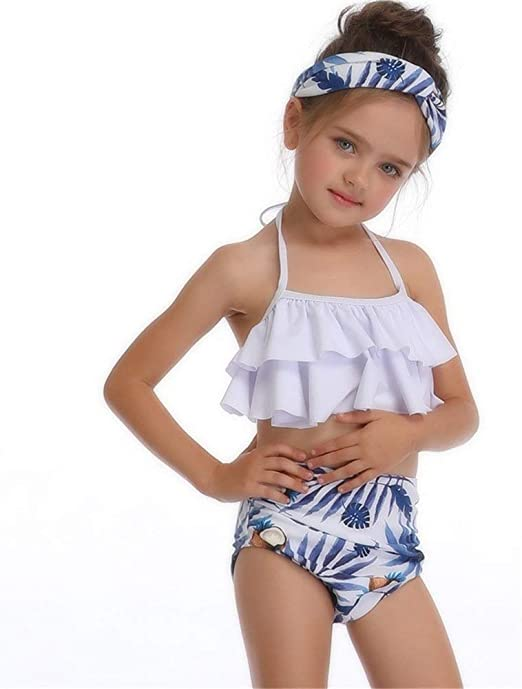 Kids Girls Swimming Bikini Costumes Swimwear Swimsuit Beach Top+Shorts Bath Suit