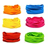 Kalily Cool Oringinal Design 6 Pack Head Band Bandana Protective Multi-use Seamless Breathable Neck and Head Tube Gaiter. Can Be Used As Neck Warmer, Headband, Bandana, Wristband, Balaclava, Headwrap. For Outdoor Activities Like Fishing Hunting Golf Camping Hiking Sports Motorcycle Riding Biking Cycling (Mix Set 3) (Mix-Set-12)