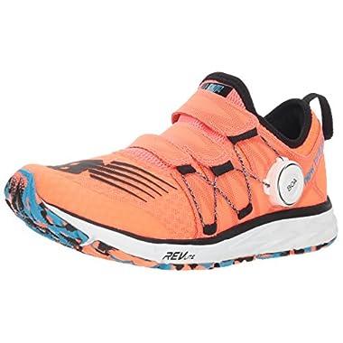 819711dca159e New Balance Women's 1500v4 Running Shoe, Orange/Black, 9.5 D US