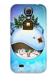 First-class Case Cover For Galaxy S4 Dual Protection Cover Christmas In December