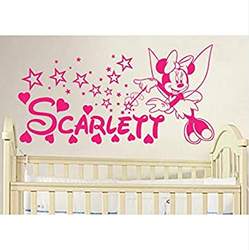 Smntt DIY Minnie Mouse Personalisierte Name Vinyl Wandtattoo ...