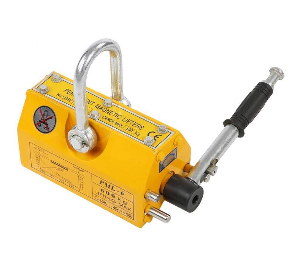 Lifting Magnets 600KG, Steel Permanent Magnetic Lifter Heavy Duty Crane Hoist Lifting Magnet Industrial Magnet