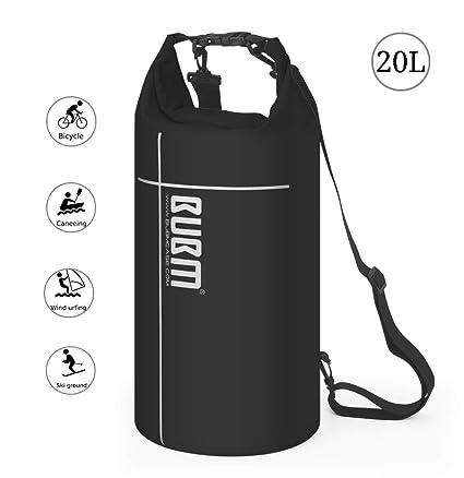 Mochila Impermeable de Viaje - Premium Bolsa Estanca 20~35L Impermeable Seca PVC, 500D (Rafting/Kayak/Senderismo/Esquí/Pesca/Escalada/Camping)