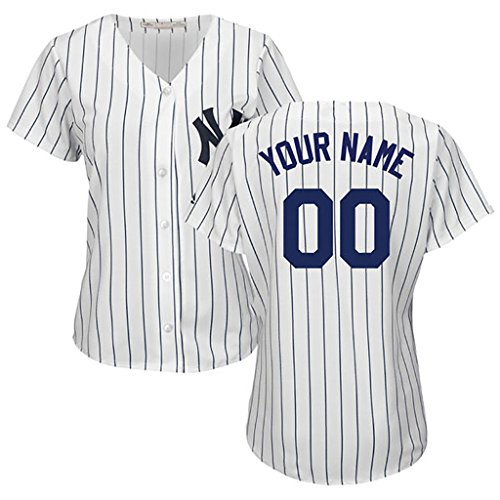 Generic New York Yankees Cusomized White Jersey Your Name/Number Women Size 2XL