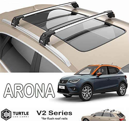 TURTLE Seat Arona Silver Roof Rack Cross Bar
