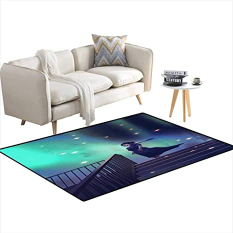 Amazon.com: Room Home Bedroom Carpet Floor Mat Woman in a ...