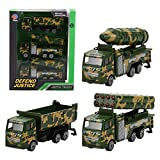 Diecast Military Vehicles Army Toys Metal Model Cars - Dump Truck, Rocket Truck, Missile Truck, Car Toy Gift for 3, 4, 5 Years Old Toddlers, Boys Kids Christmas Xmas Birthday