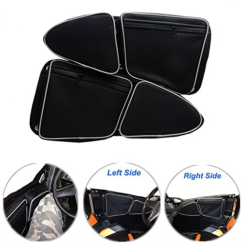 EPSILONT Side Door Bags for Polaris RZR XP 1000 900XC S900 Passenger And Driver Side Storage Bag with Knee Protection (SET OF 2) (Rzr Xp Doors 1000)