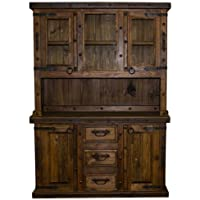 2 Piece Rustic Reclaimed China Cabinet