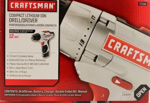 - Craftsman Nextec 12-volt Compact Drill/driver